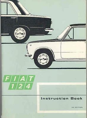 1968 Fiat 124 Owner's Manual fo368-MCL66D