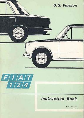 1972 Fiat 124 Owner's Manual fo379-4HIP3N