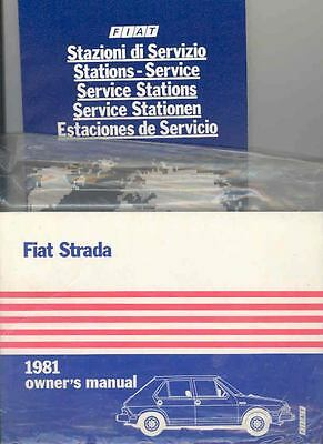 1981 Fiat Strada Owner's Manual and Sleeve fo416-6AGPYS