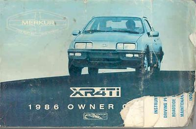 1986 Ford of Germany XR4Ti Owner's Manual fo452-GDWCJF