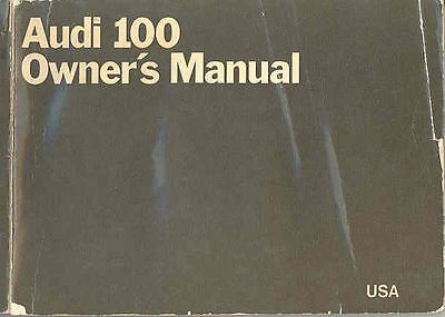 1970 Audi 100 Owner's Manual fo50-MJ7QRL