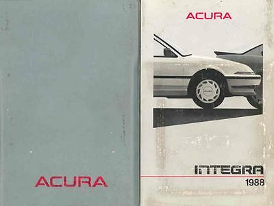 1988 Acura Integra Owner's Manual and Pouch fo5-RDSGMW
