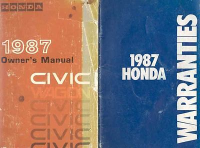 1987 Honda Civic Wagon Owner's Manual with booklet fo533-SDEFK4