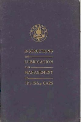 1930 ? Berliet 12HP 15HP Owner's Manual fo543-HWZ851