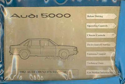 1982 Audi 5000 Owner's Manual and Pouch fo572-GTN4QO