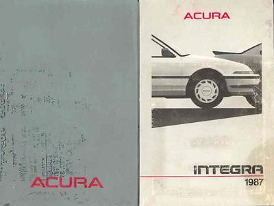 1987 Acura Integra Owner's Manual and Pouch fo574-QI312P