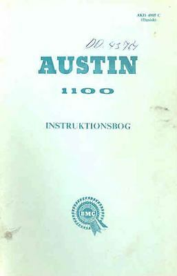 1968 Austin 1100 Owner's Manual Danish fo580-V4LCPG