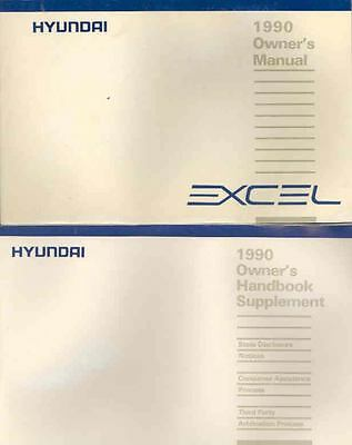 1990 Hyundai Excel Owner's Manual and Pouch fo672-DL5RWG