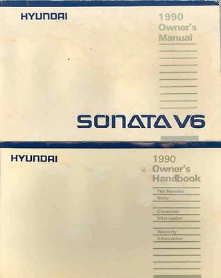 1990 Hyundai Sonata V6 Owner's Manual and Pouch fo677-XXEWNS
