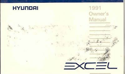 1991 Hyundai Excel Owner's Manual fo678-SQZETF