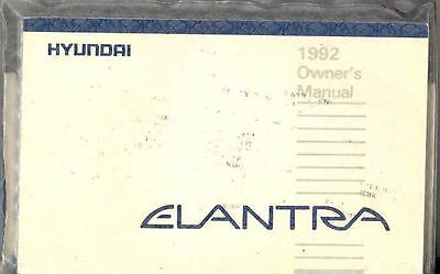 1992 Hyundai Elantra Owner's Manual and Pouch fo684-5RMSCP