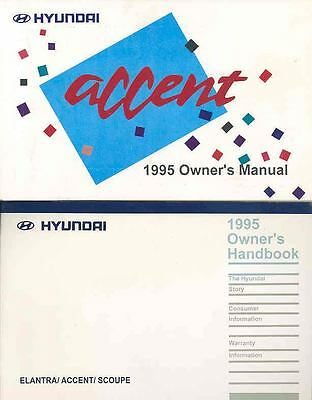 1995 Hyundai Accent Owner's Manual with booklet fo702-MS276I