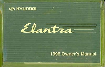 1996 Hyundai Elantra Owner's Manual and Pouch fo705-RNZYM9