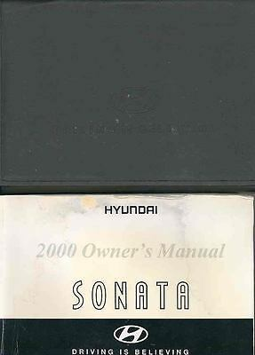 2000 Hyundai Sonata Owner's Manual and Pouch fo711-2MVAII