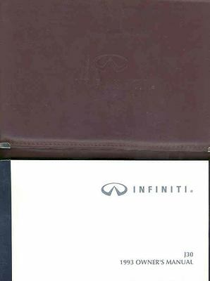 1993 Infiniti J30 Owner's Manual and Pouch fo720-RND52M
