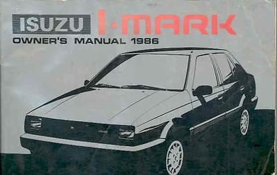1986 Isuzu I Mark Owner's Manual fo741-6QWCQJ