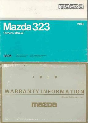 1988 Mazda 323 Owner's Manual and Pouch fo923-K589M6