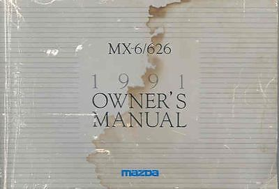 1991 Mazda MX6 and 626 Owner's Manual fo946-M3KQQA
