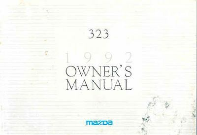 1992 Mazda 323 Owner's Manual fo950-1DHP3T