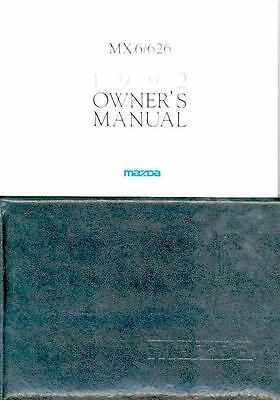 1992 Mazda MX6 and 626 Owner's Manual and Pouch fo956-DXWBCQ