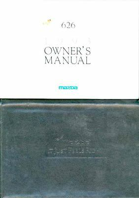 1993 Mazda 626 Owner's Manual and Pouch fo960-NVWFM1