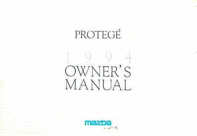 1994 Mazda Protege Owner's Manual fo970-6QPCKH
