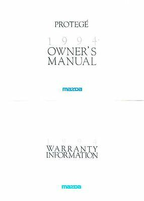 1994 Mazda Protege Owner's Manual and Pouch fo971-C97JGF