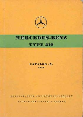 1956 Mercedes Type 219 Illustrated Parts Book fo998-ZNSS6W
