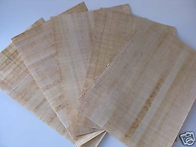"""5 Egyptian Plain Papyrus Papers for Painting 9""""X13"""""""