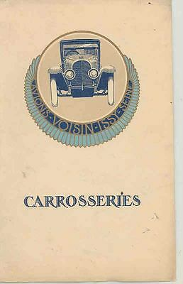 1922 Voisin Prestige Brochure French wr7899-DQCYNR