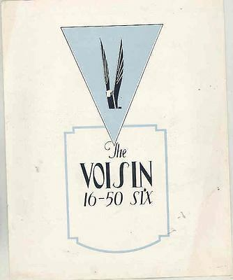 1927 ? Voisin Six 16/50 Brochure French wr7906-BE4TAA