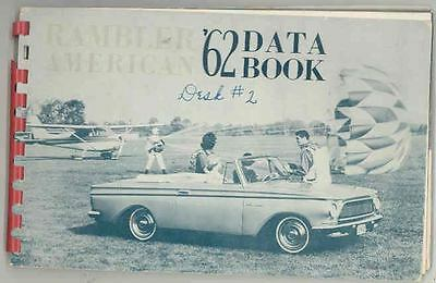 1962 AMC Rambler American Salesman's Data Book Album wr8393-43UJ1Y