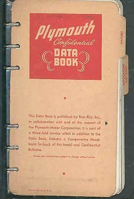 1942 Plymouth P14S Salesman's Data Facts Book wr9853-4LWQNO