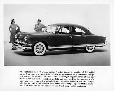 1952 Kaiser Frazer Manhattan Factory Photo ad6457-GI9EWP