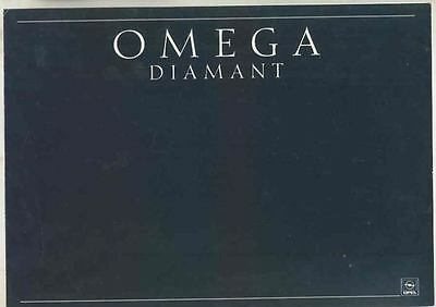 1989 Opel Omega Diamant German Brochure Diamond mx5540-BFMIIB