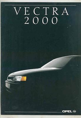 1990 Opel Vectra 2000 German Brochure mx5547-ZL72CK