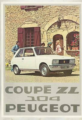 1976 Peugeot Coupe ZL 104 French Brochure mx5571-5EWXW8