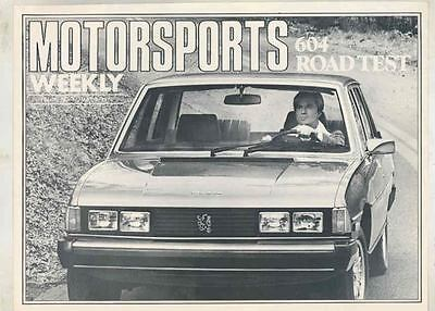May 1977 Peugeot 604 Road Test Motorsports Weekly Magazine Article mx5582-HADE3G
