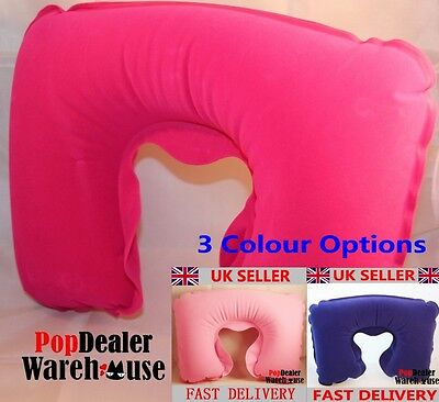 Inflatable Neck Travel Pillow Head Rest Cushion Support