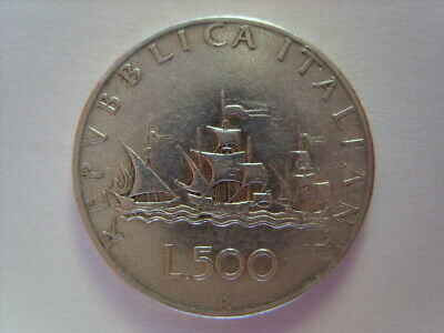 500 Lire Caravelle In Argento 1964
