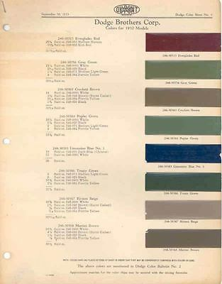 1932 Dodge Paint Chip Lot 98509-NXAT36