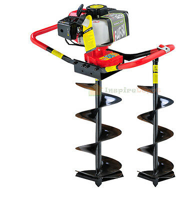 "2.3 HP Gas Powered Post Hole Digger w/2 auger Bits 6"" + 10"" 55CC Power Engine"