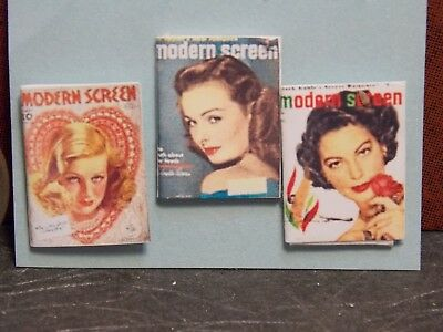 Dollhouse Miniature Vintage Magazines Books 1:12 inch scale H106 Dollys Gallery