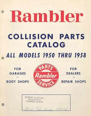 1950 1951 thru 1956 1957 1958 AMC Rambler Parts Book I05-UQARXJ