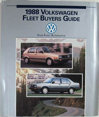 1988 Volkswagen Dealer Showroom Album I2737-VWG85U