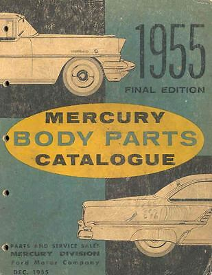 1955 Mercury Body Illustrated Parts Book I418-Y98RKW