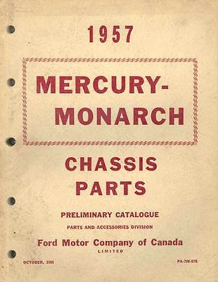1957 Mercury Monarch Chassis Illustrated Preliminary Parts Book I423-1I9AP1