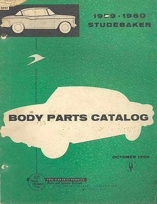 1959 1960 Studebaker Body Illustrated Parts Book I694-ITB23T