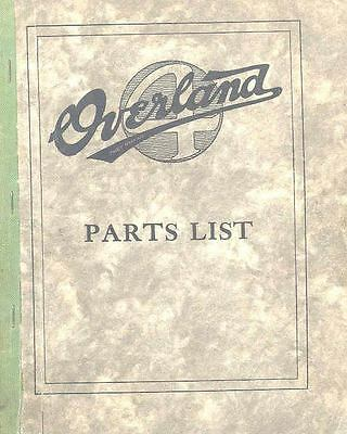 1920 Willys Overland Illustrated Parts Book I745-XM7K8L