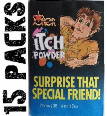 15 ITCH ITCHING Powder Packs -   Nasty Joke Magic Prank Gag Gift Set